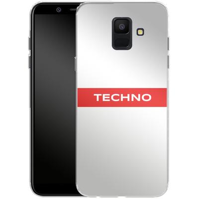 Samsung Galaxy A6 Silikon Handyhuelle - RED LINE von Berlin Techno Collective