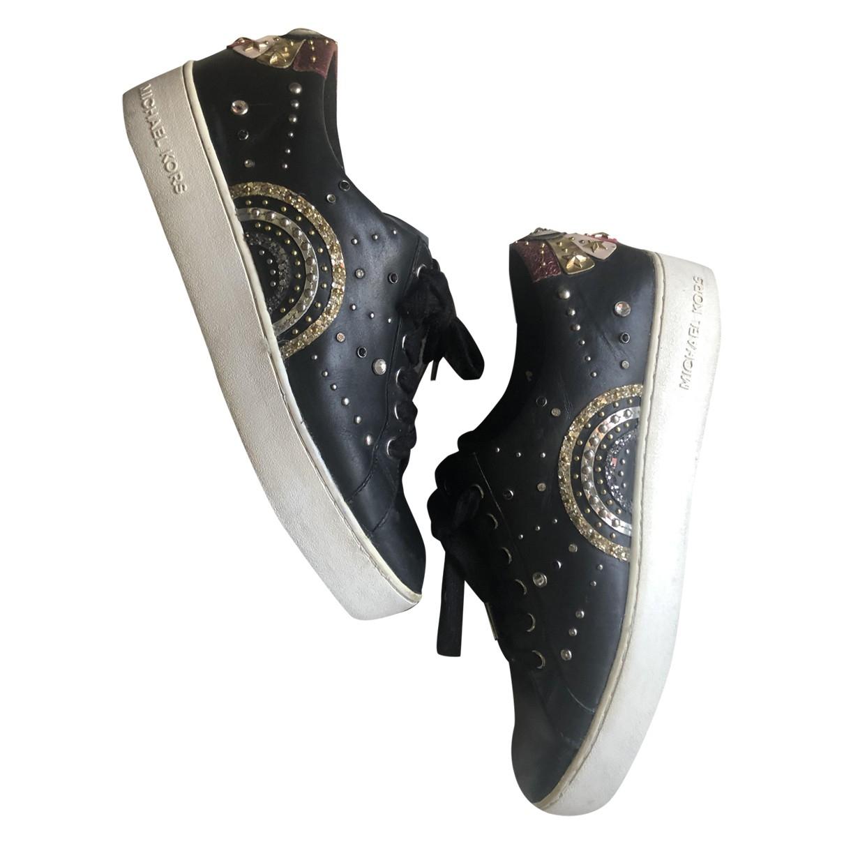 Michael Kors \N Sneakers in  Schwarz Leder