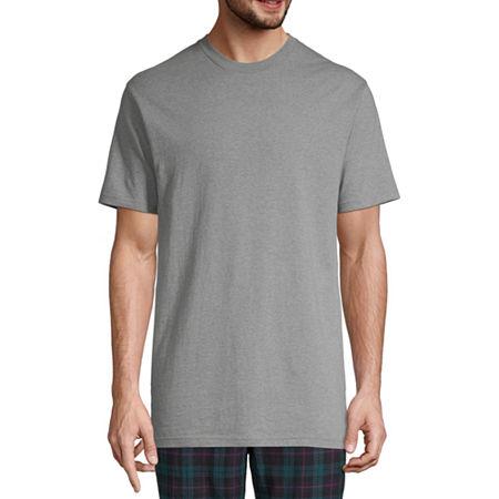 Stafford 3-pk. Heavyweight Cotton Crewneck T-Shirts - Big & Tall, X-large X-tall , Black