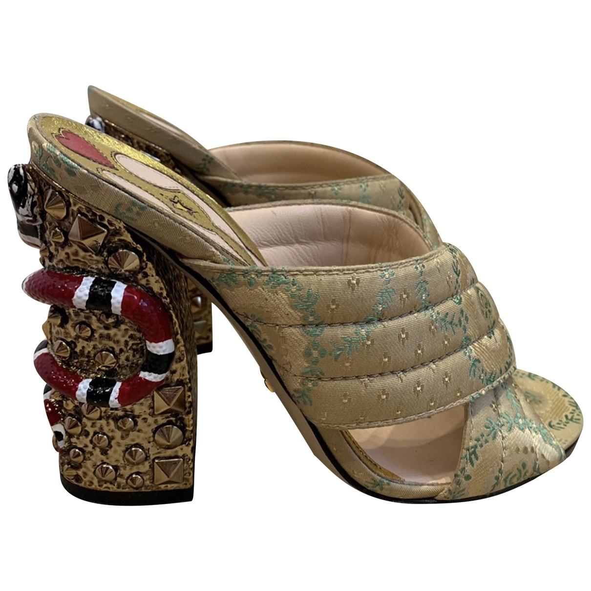 Gucci - Sandales   pour femme en toile - multicolore