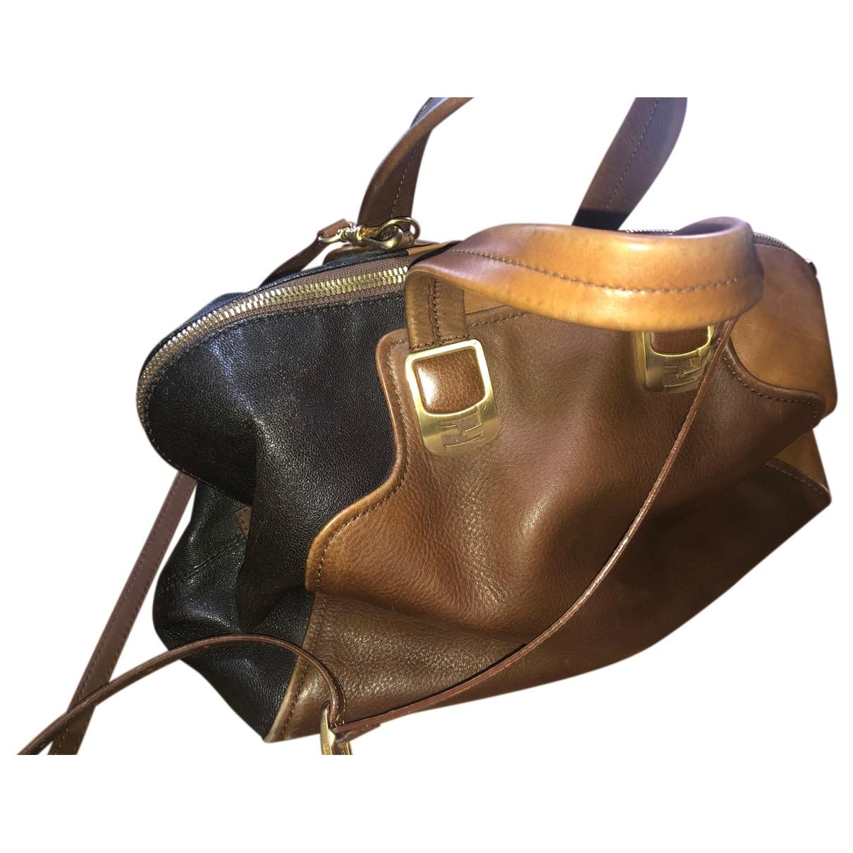 Fendi Chameleon Camel Leather handbag for Women N