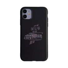 Car & Japanese Letter Graphic iPhone Case