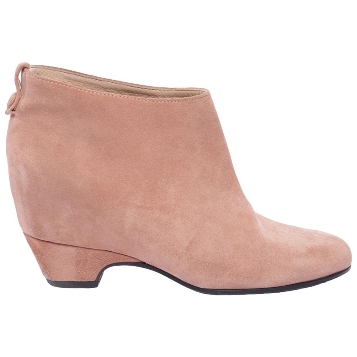 Golden Goose - Boots   pour femme en cuir - rose