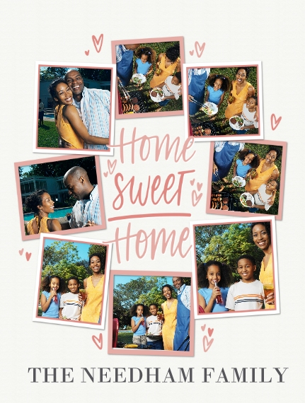 Family + Friends Fleece Blanket, 60x80, Gift -Blanket Home Sweet Home by Tumbalina
