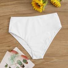 Solid High Waist Swimming Panty
