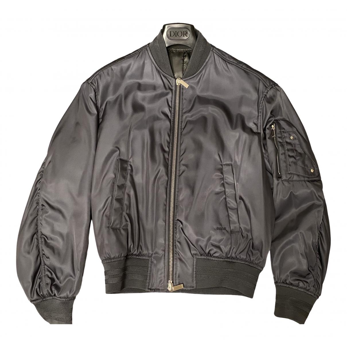 Dior Homme \N Jacke in  Grau Polyester