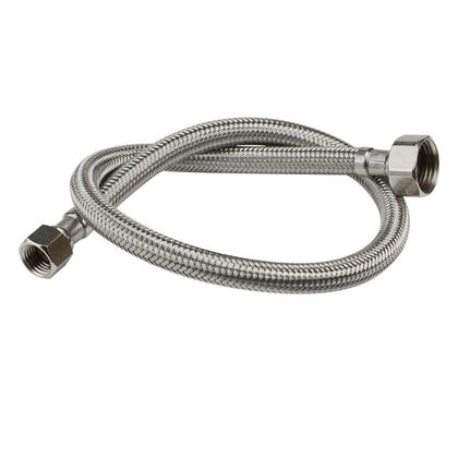 9/16-1/2 Stainless Steel Braided Hose Pipe Tube for Toilet, 35cm (13.8 inches) - Amazetec ®