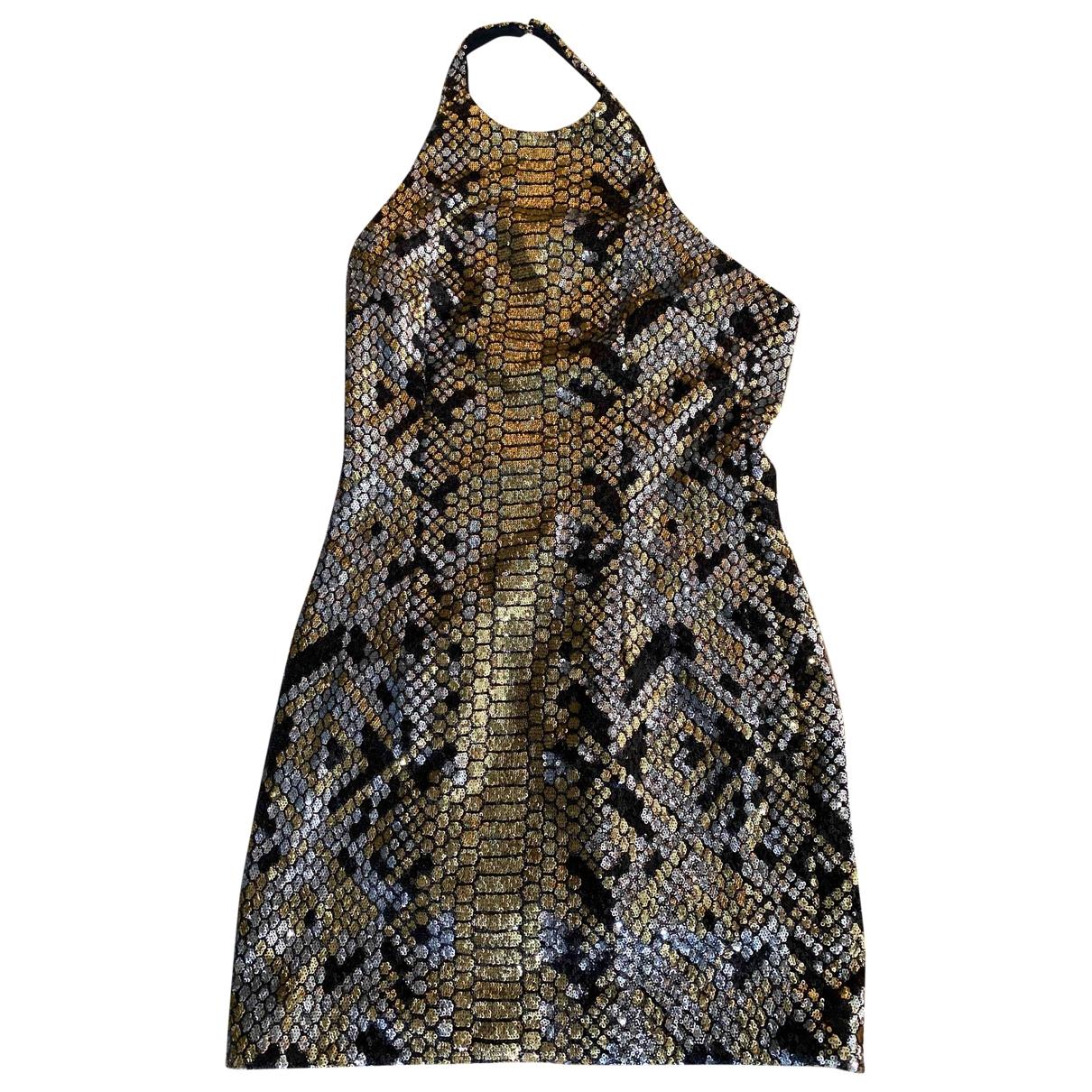 Balmain \N Kleid in  Metallic Polyester