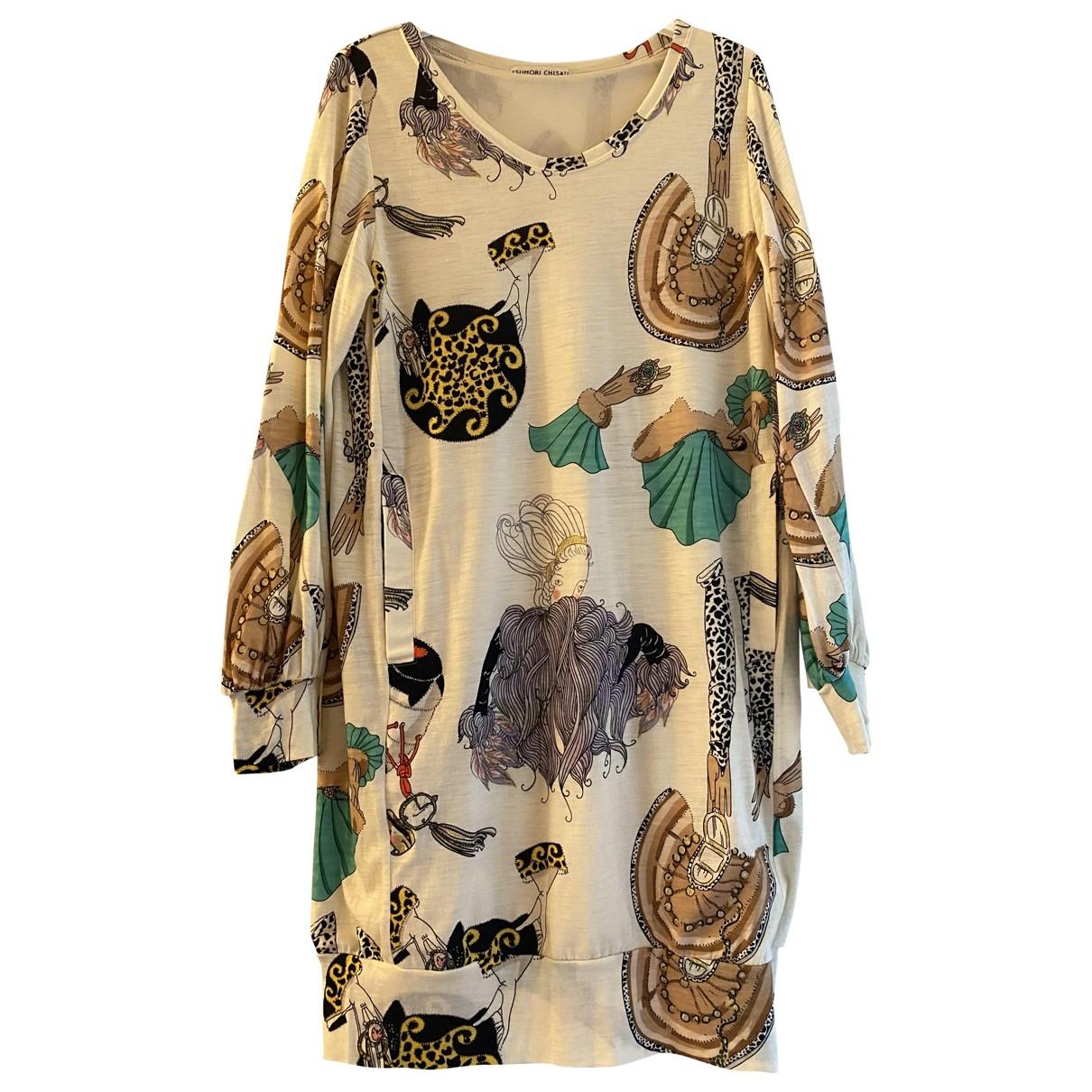 Tsumori Chisato - Robe   pour femme en laine - multicolore