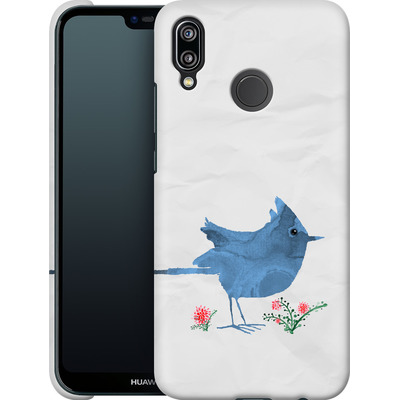 Huawei P20 Lite Smartphone Huelle - Watercolour Bird White von caseable Designs