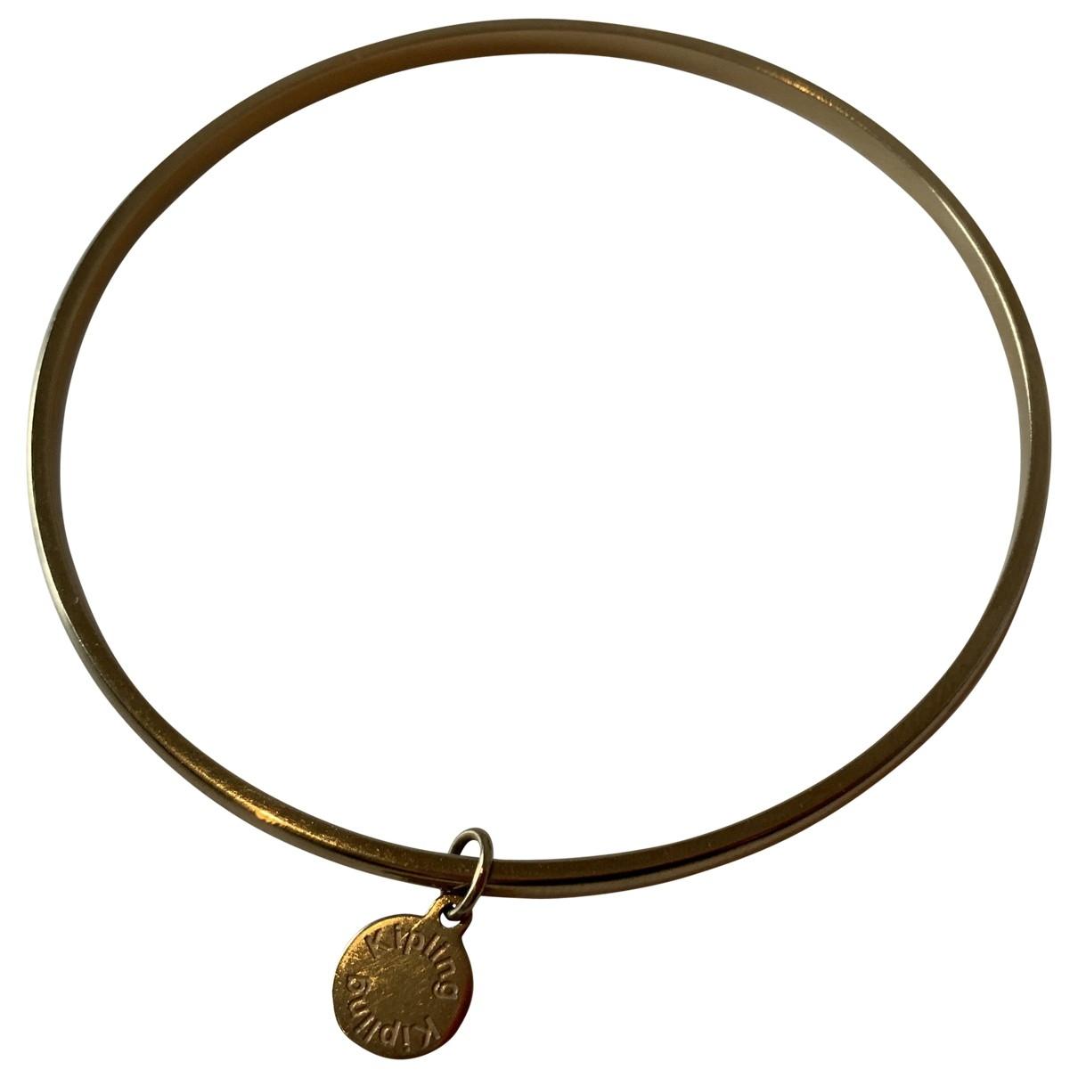 - Bracelet Jonc pour femme en plaque or - dore