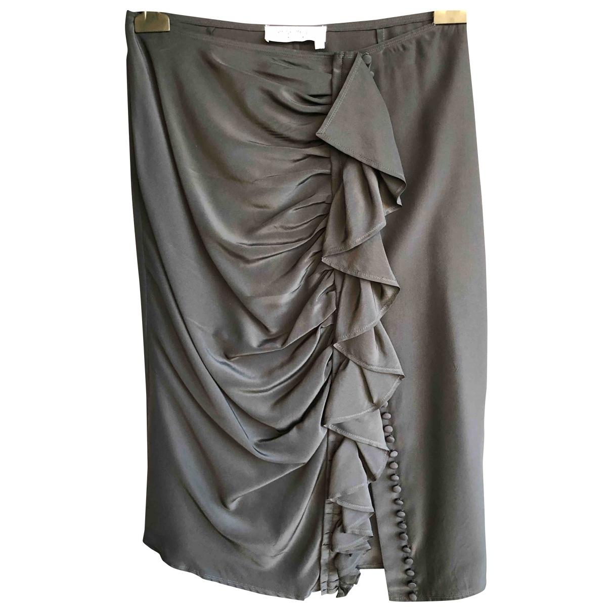 Yves Saint Laurent \N Black Silk skirt for Women 40 FR
