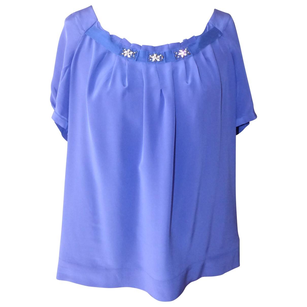 Gerard Darel \N Blue Silk  top for Women 44 FR