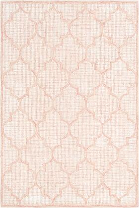 Starlit STR-2307 8' x 10' Rectangle Cottage Rugs in Rose  White  Beige