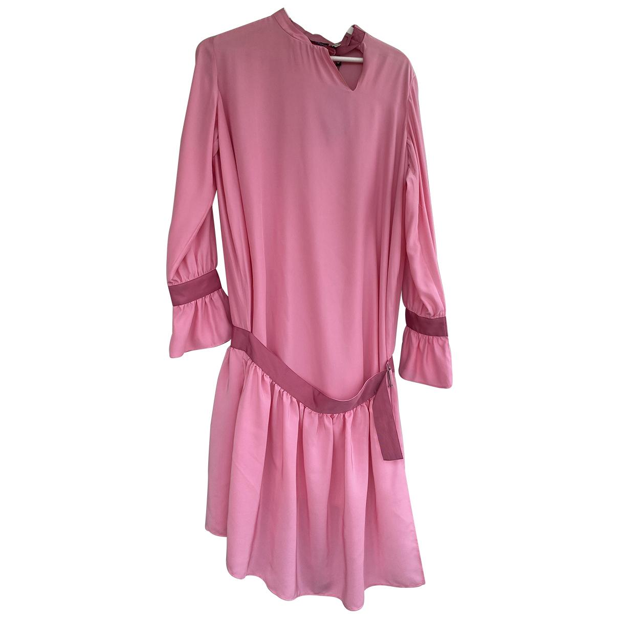 Emporio Armani \N Kleid in  Rosa Seide