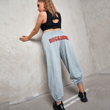 Pantalones Extra Grande Frase Casual