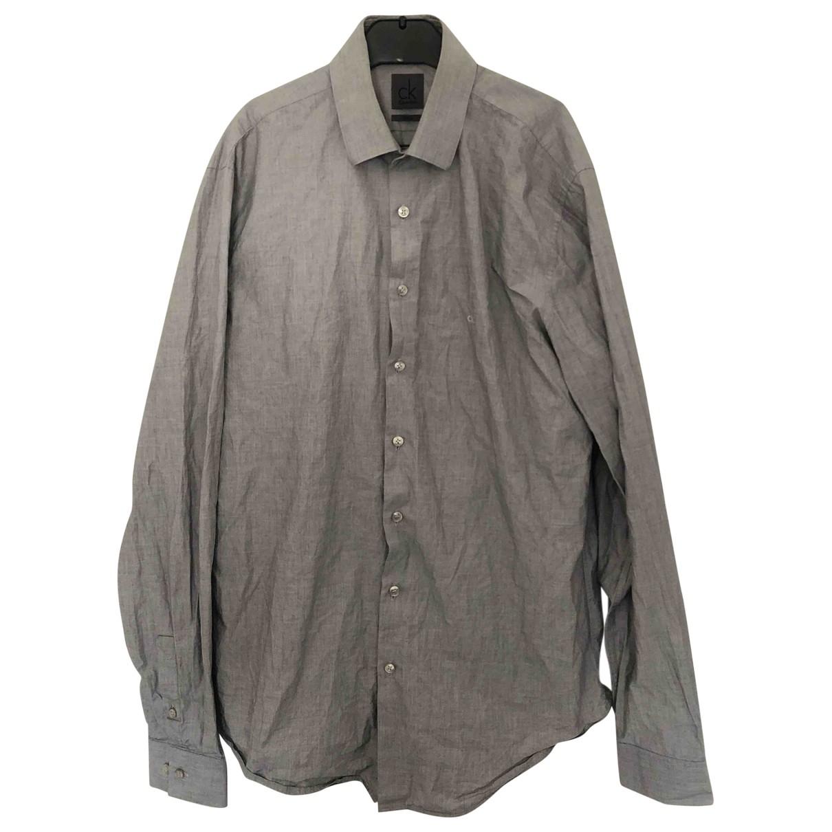Calvin Klein \N Hemden in  Grau Baumwolle