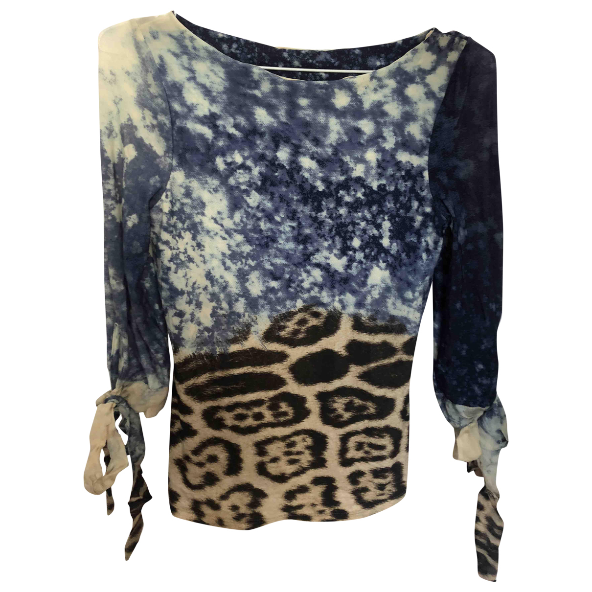 Roberto Cavalli \N Blue Cotton  top for Women S International
