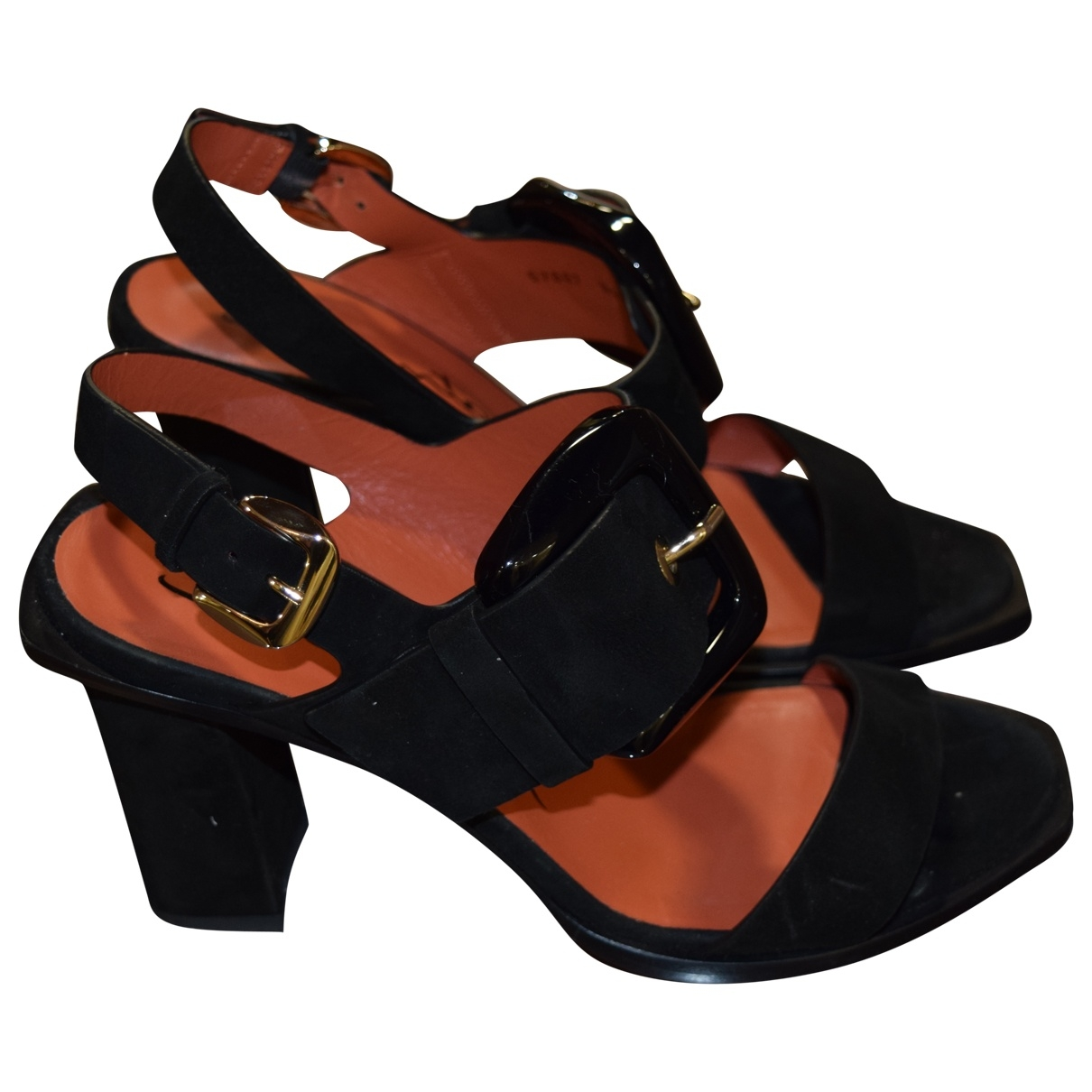 Santoni \N Black Leather Sandals for Women 38 EU