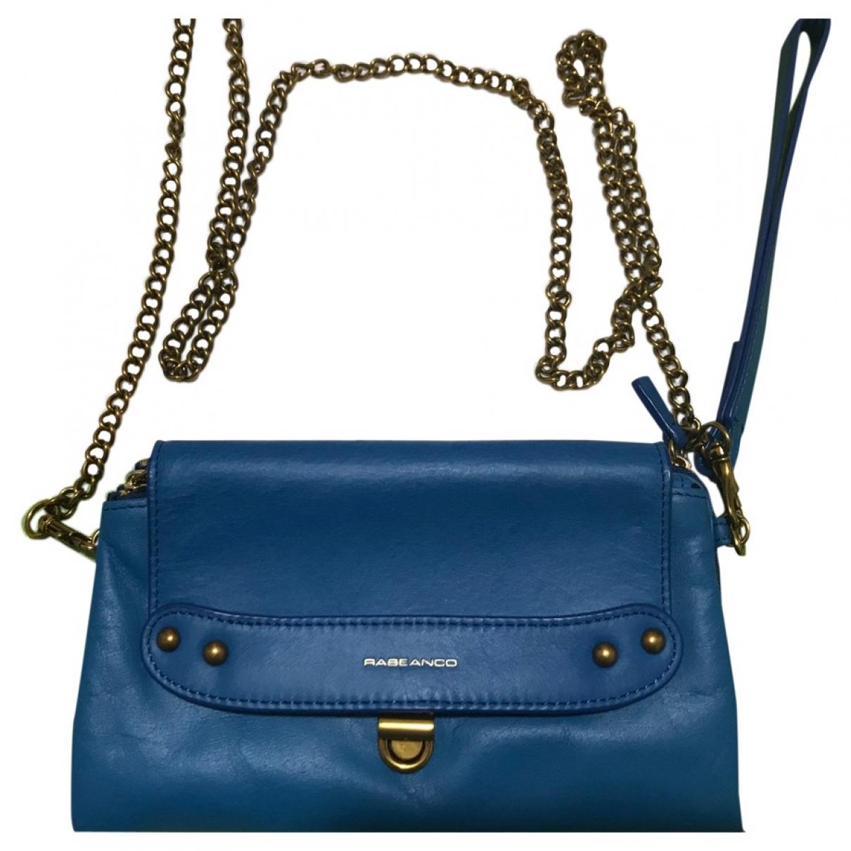 - Pochette   pour femme en cuir - turquoise