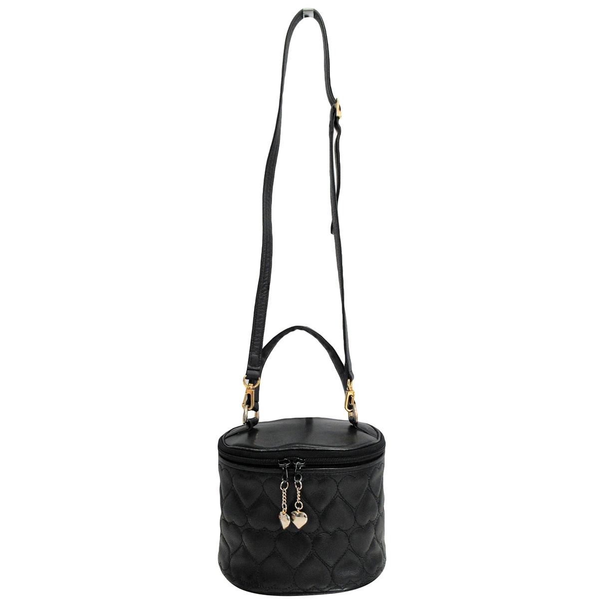 Moschino - Sac a main   pour femme en cuir - noir