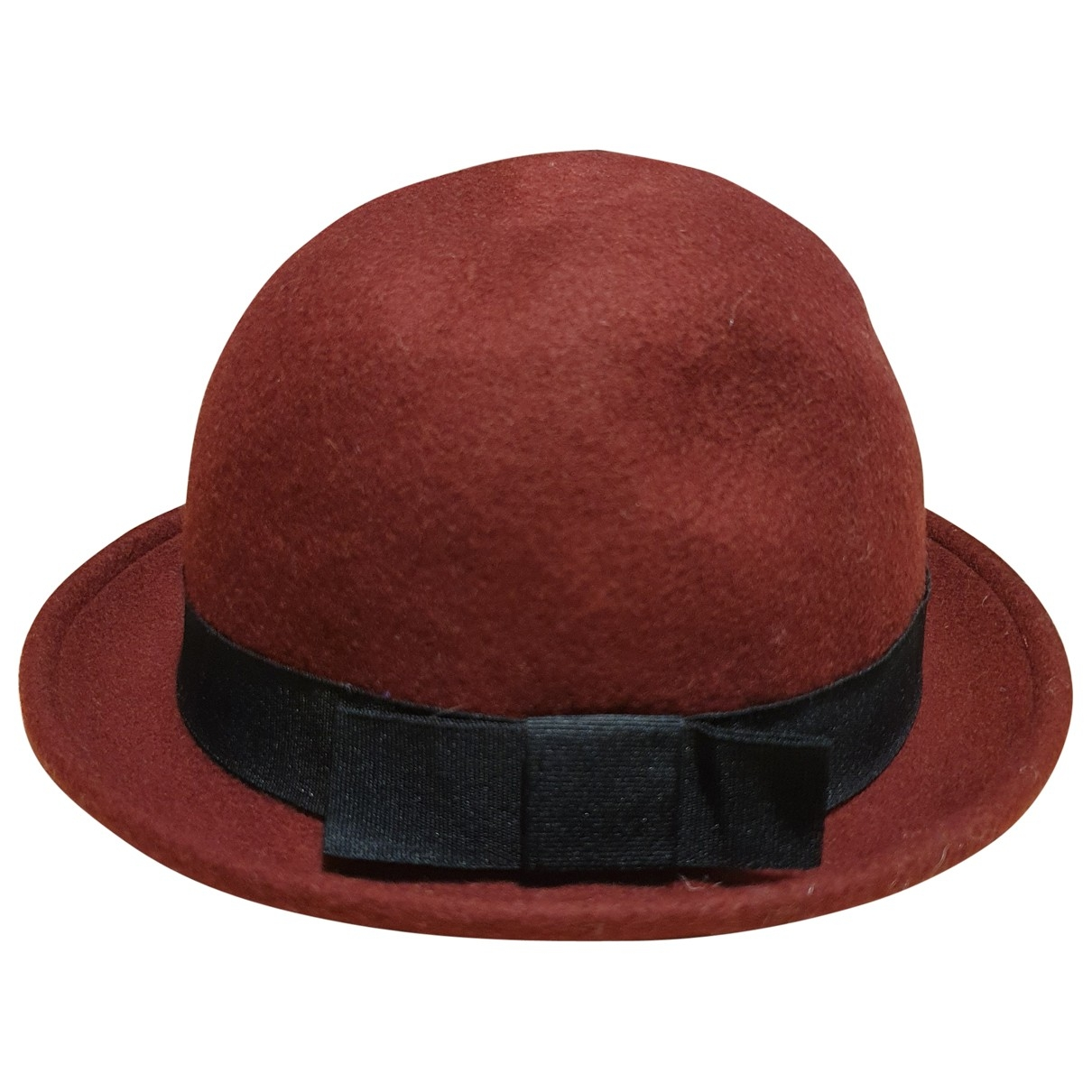 Non Signé / Unsigned \N Burgundy Wool hat for Women S International