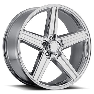 IROC 22X9.5 5X127 +15MM 38 Lbs Chrome Aluminum Wheels 652 OE Replica Series REV Wheels 652C-2950