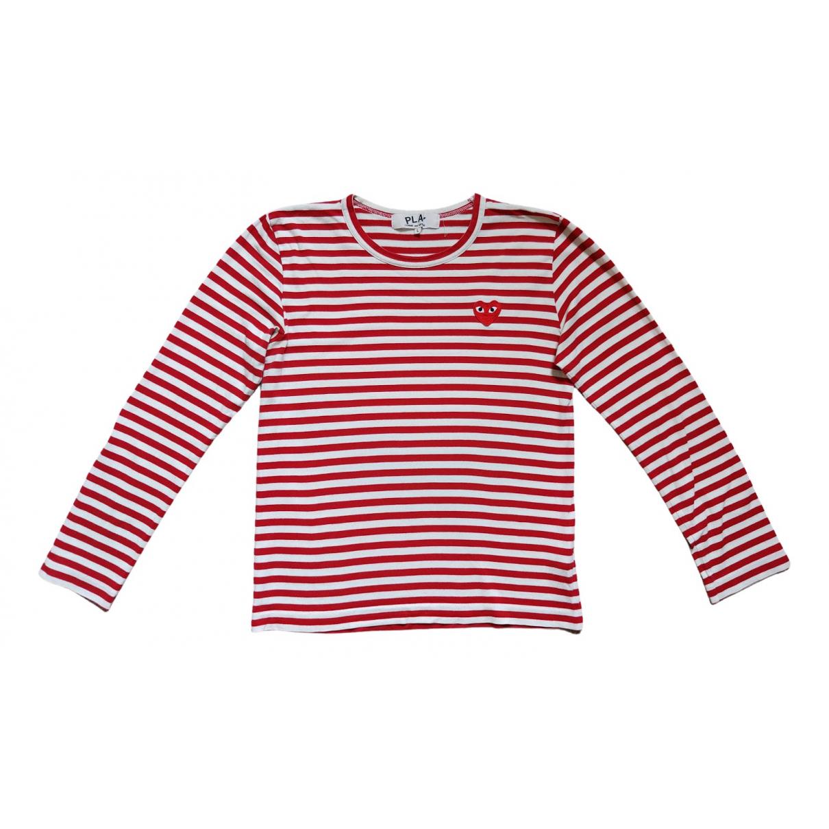 Play Comme Des Garcons - Top   pour femme en coton - rouge