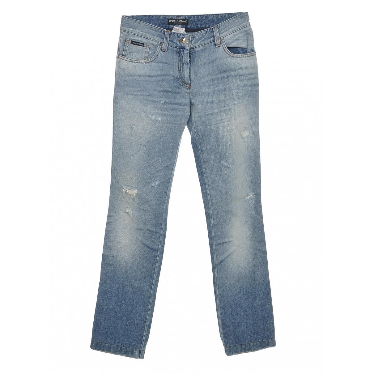 Dolce & Gabbana \N Blue Denim - Jeans Trousers for Women 38 IT