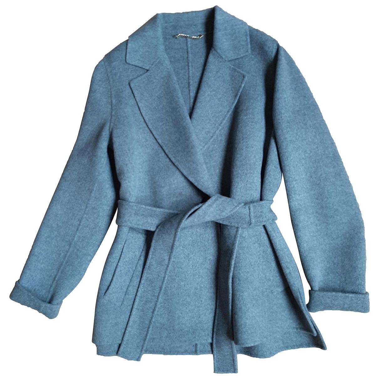 Marella \N Jacke in  Grau Wolle