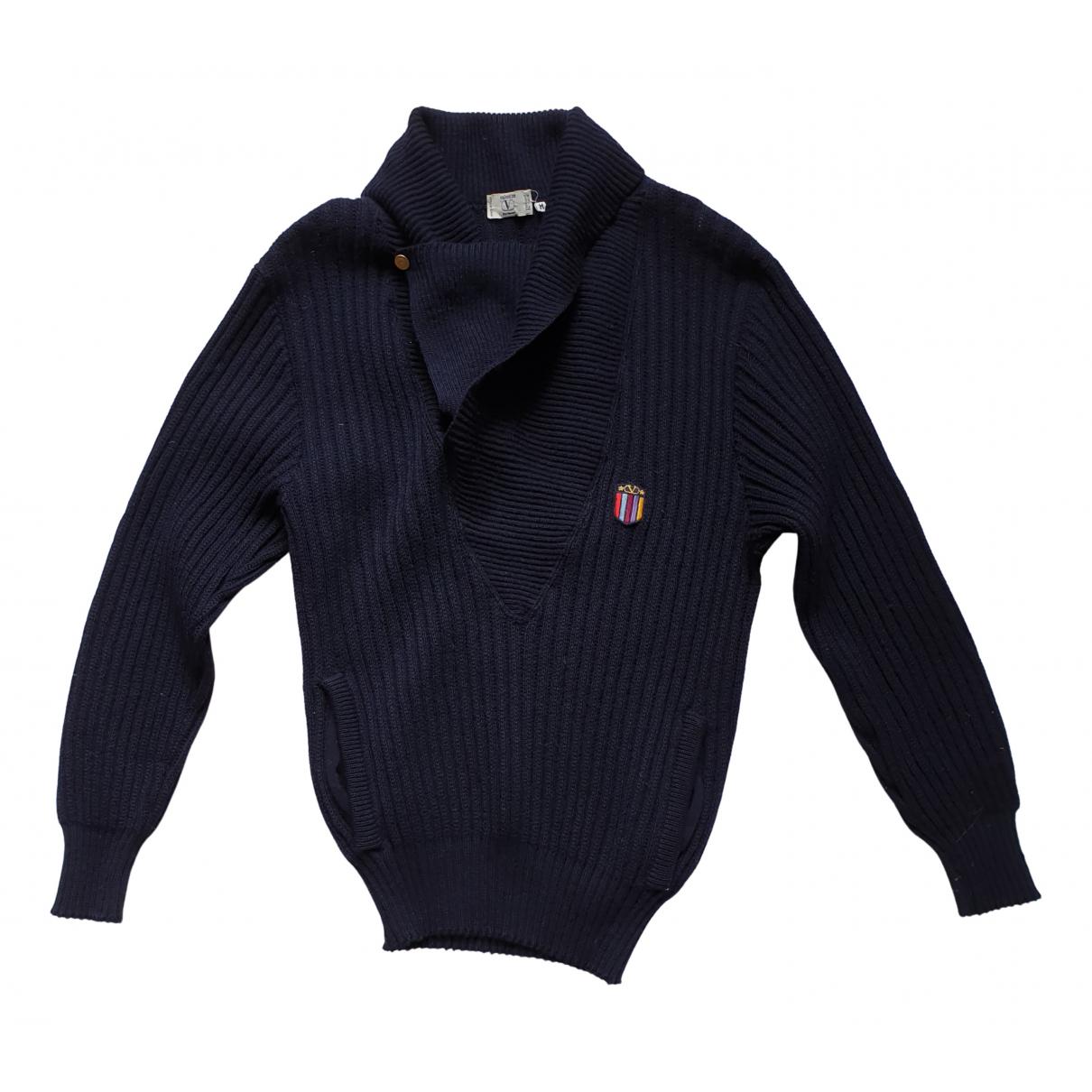 Valentino Garavani \N Pullover.Westen.Sweatshirts  in  Marine Wolle