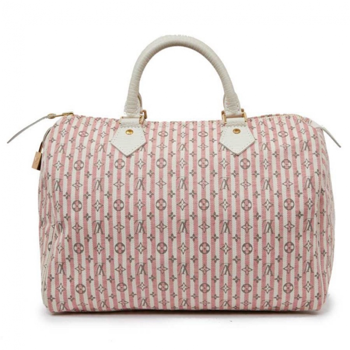 Louis Vuitton - Sac a main Speedy pour femme en toile - rose