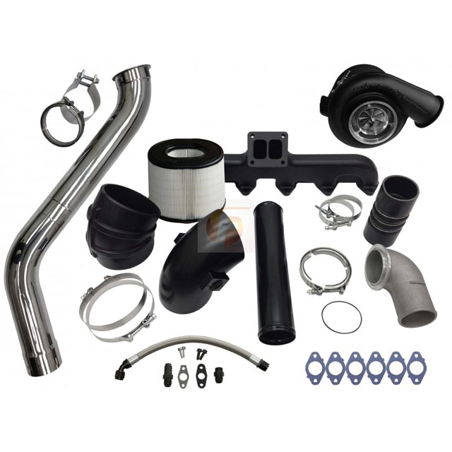 Fleece Performance FPE-593-2G-63-SS 2nd Gen Swap Kit with T4 Steed Speed Manifold and S463 Turbocharger For 3rd Gen 5.9L Cummins 2003-2007