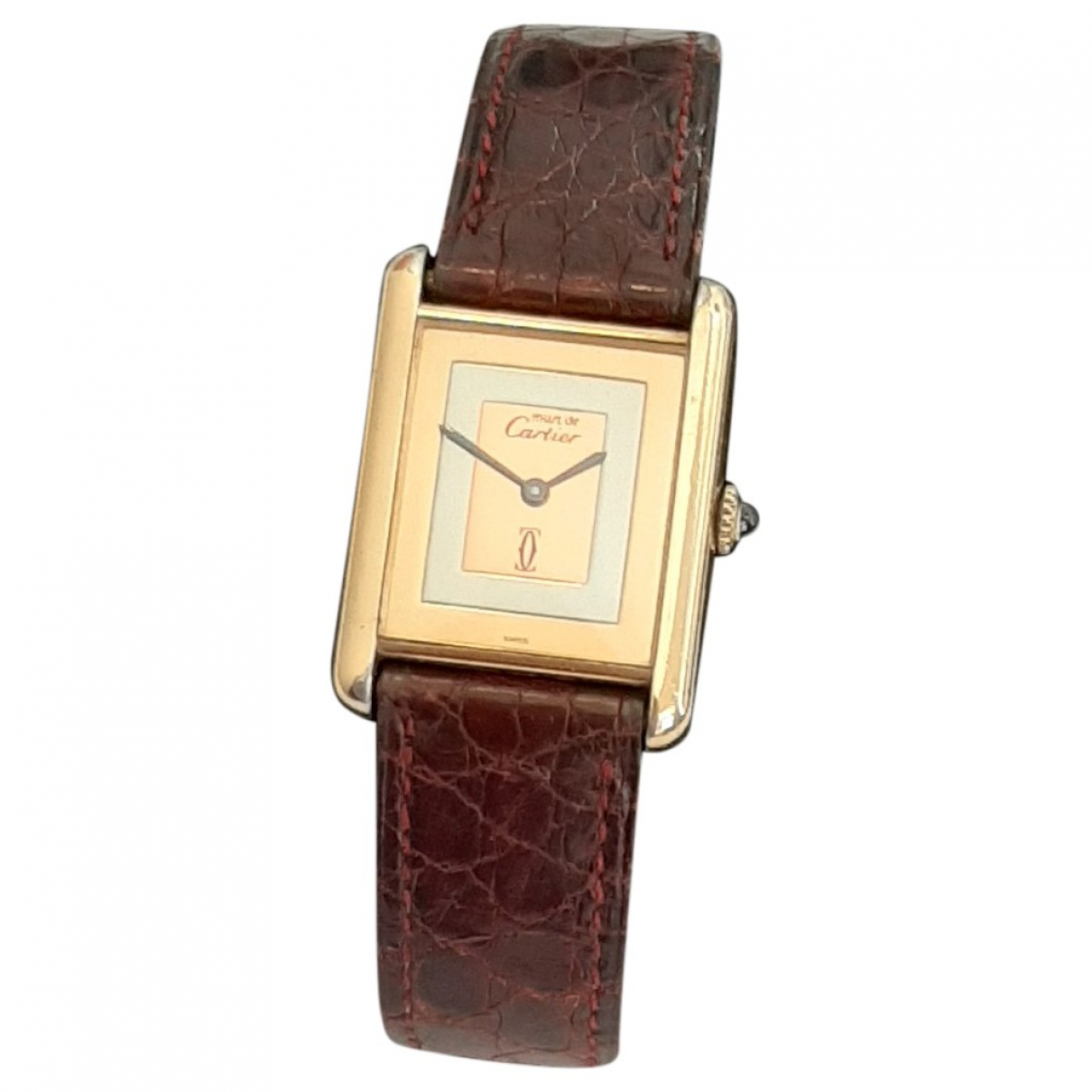 Cartier Tank Must Gold Silver Gilt watch for Women \N