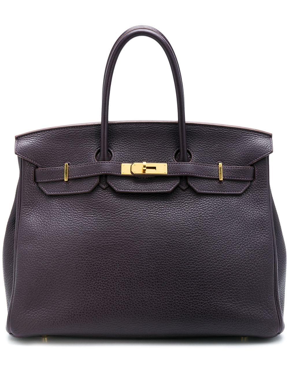 HermÈs Raisin Clemence 35cm Birkin Bag