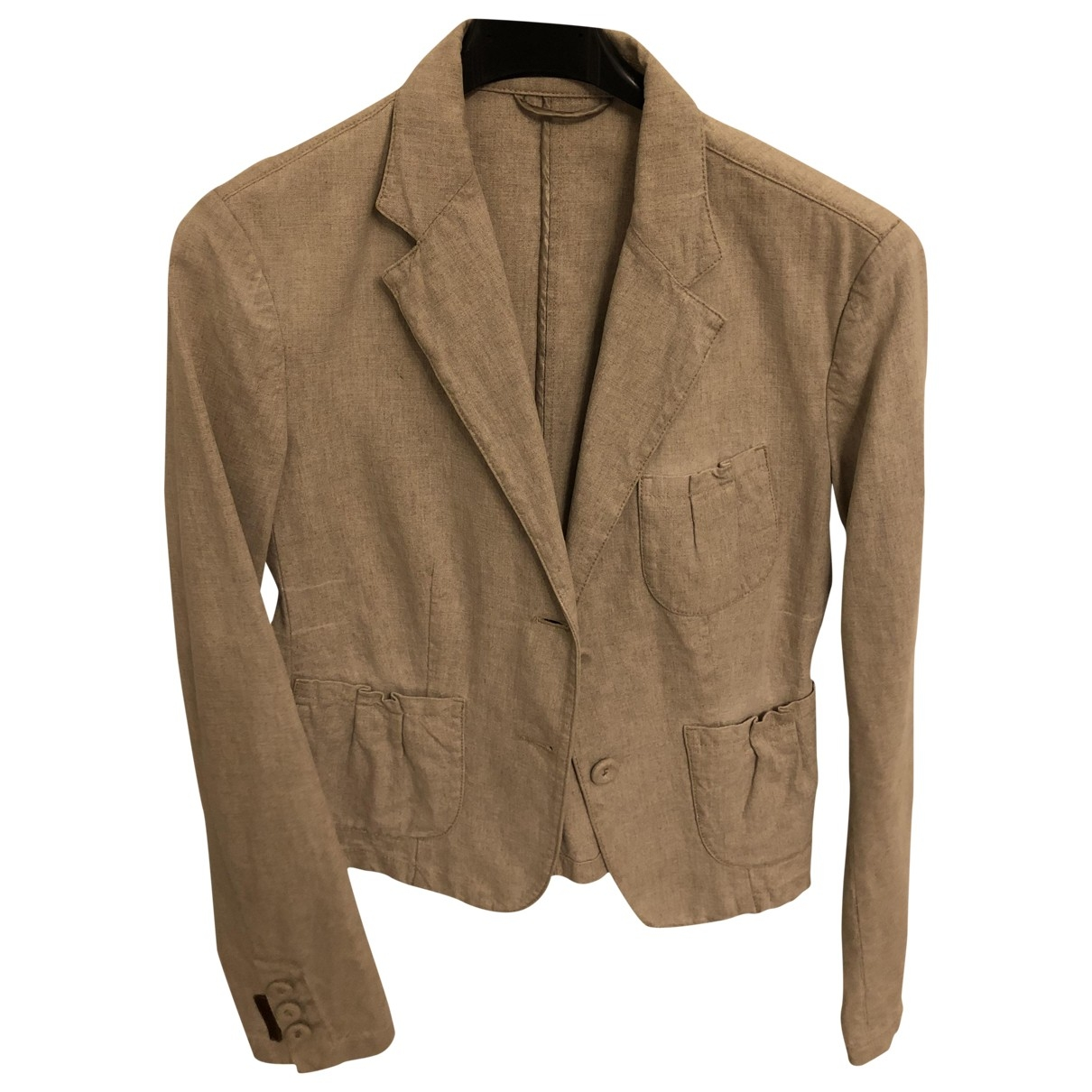 Prada \N Beige Linen jacket for Women 42 IT