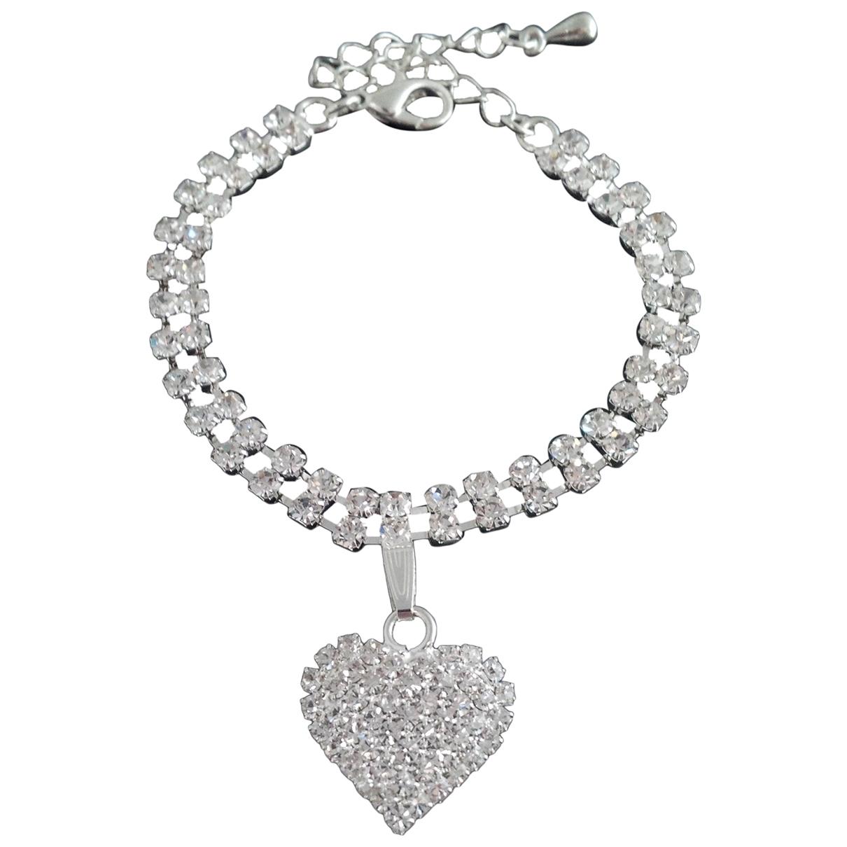 - Bracelet Motifs Coeurs pour femme en cristal - argente