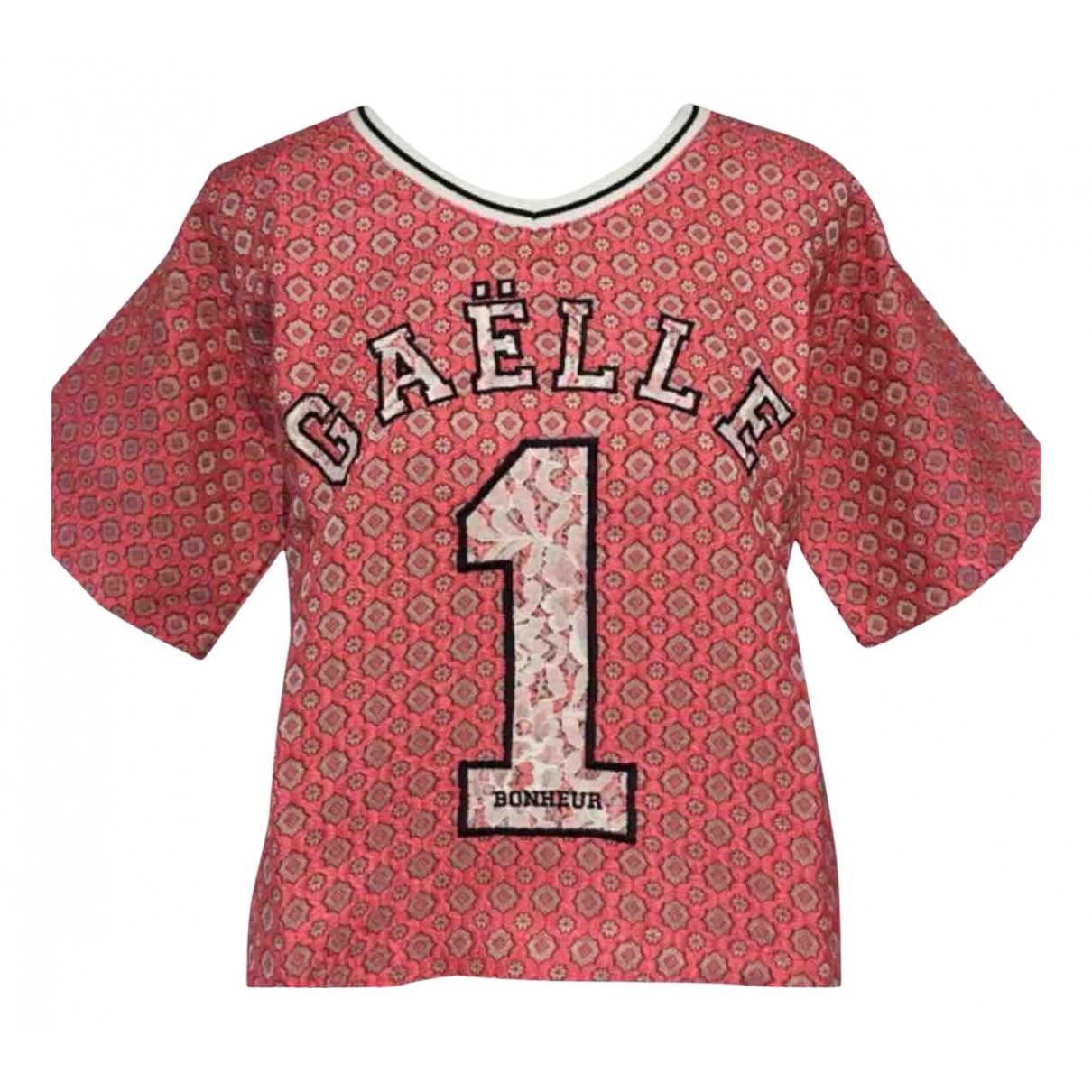 Gaelle Bonheur N Pink Cotton  top for Women 38 IT