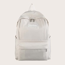 Letter Patch Large Capacity Backpack