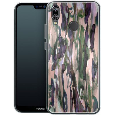 Huawei P20 Lite Silikon Handyhuelle - Fire and Ice von Amy Sia