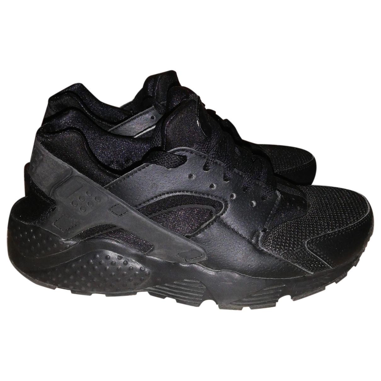 Nike - Baskets Huarache pour femme en caoutchouc - noir