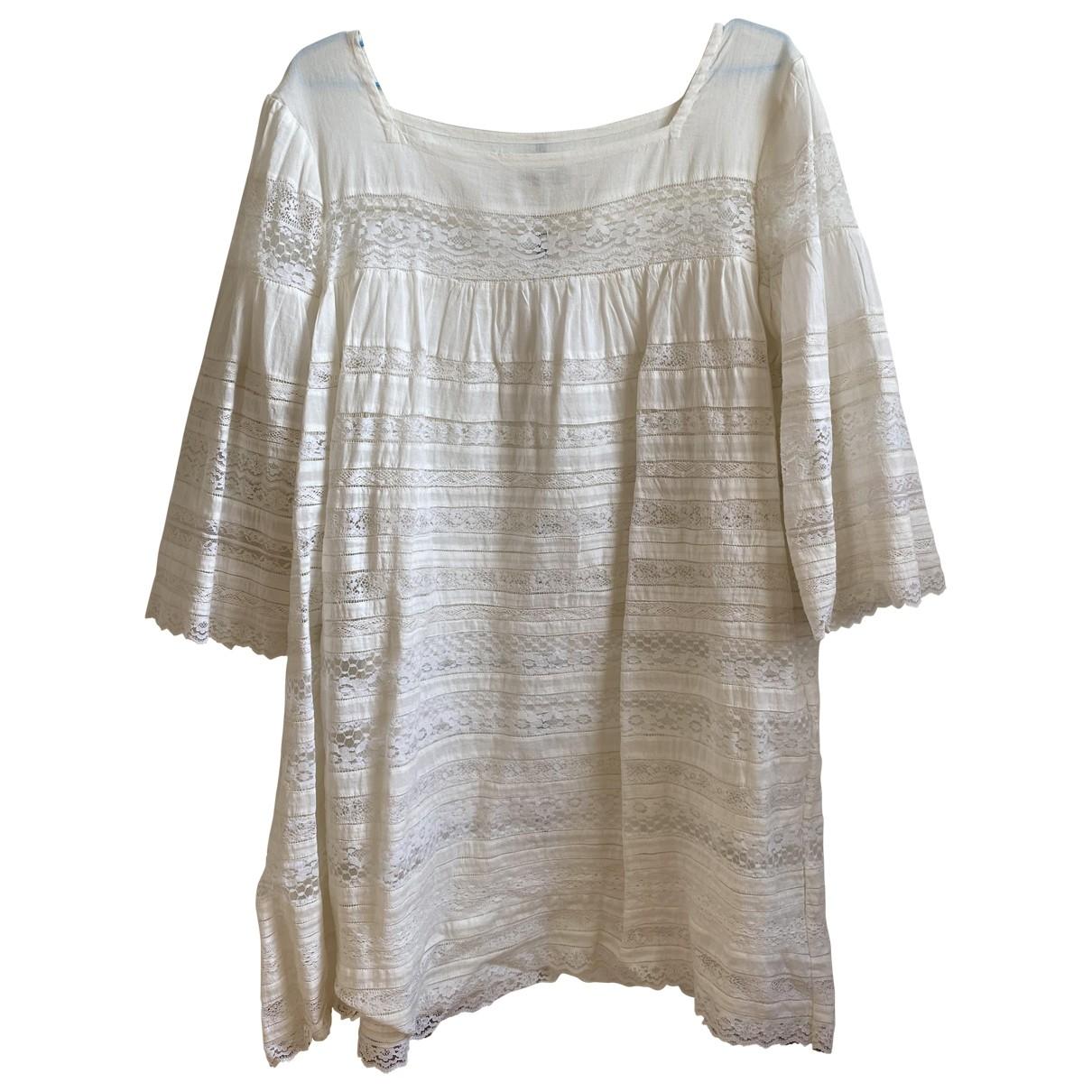 Laurence Dolige - Robe   pour femme en coton - blanc