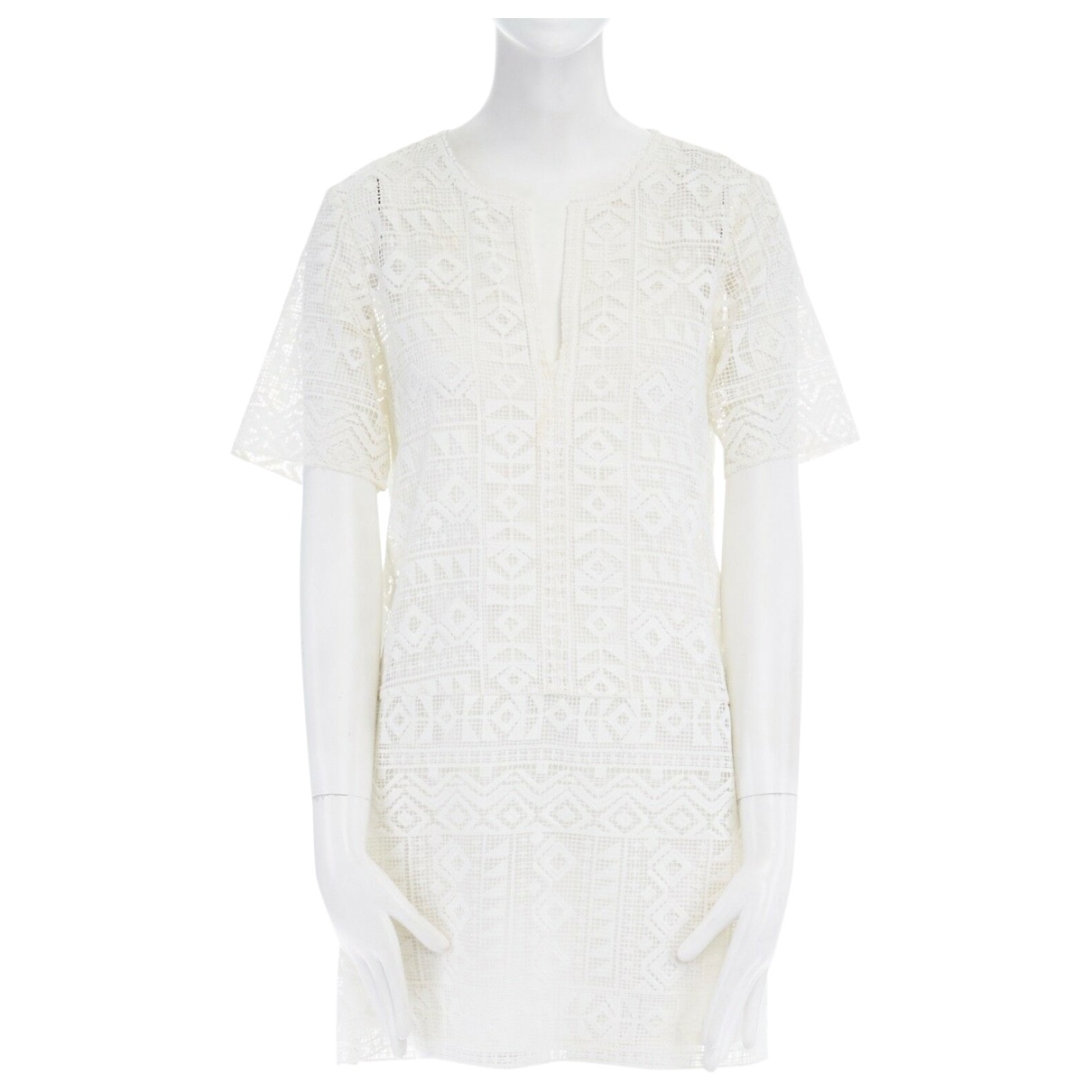 Club Monaco \N Kleid in  Weiss Polyester