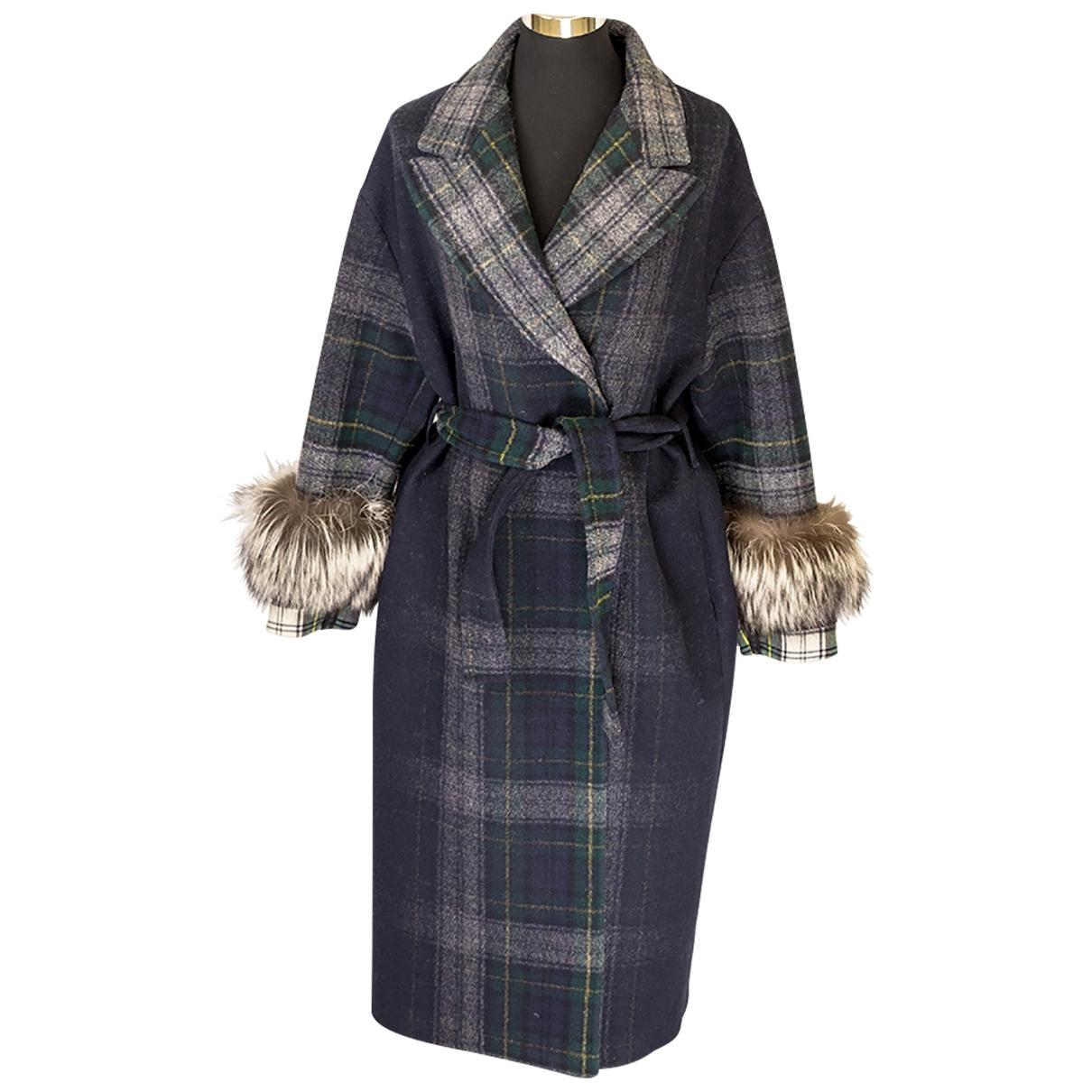 Prada - Manteau   pour femme en laine - marine