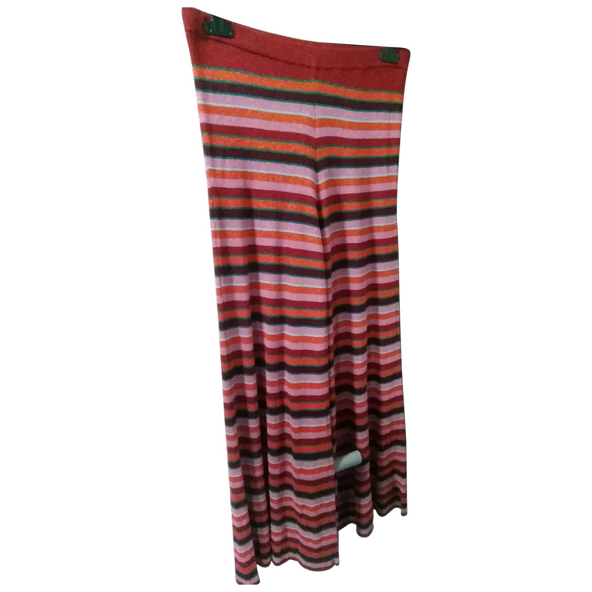 Zara \N Multicolour Trousers for Women L International