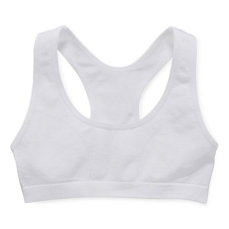 Maidenform Girls Sports Bra, Medium , White
