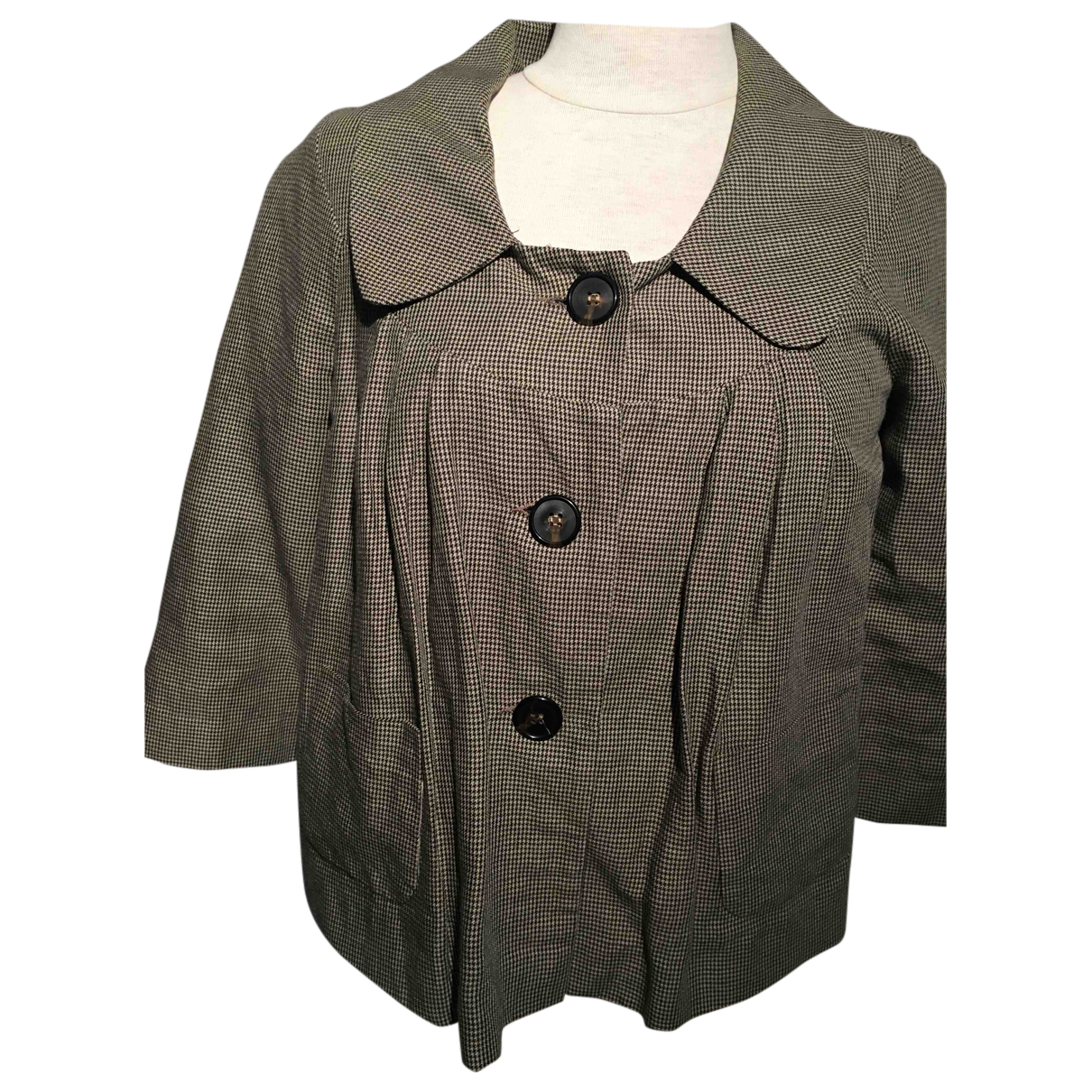 Ikks N Brown Cotton jacket for Women 36 FR