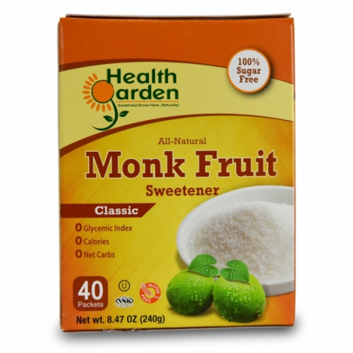 Monk Fruit Classic 40 Packets by Health Garden