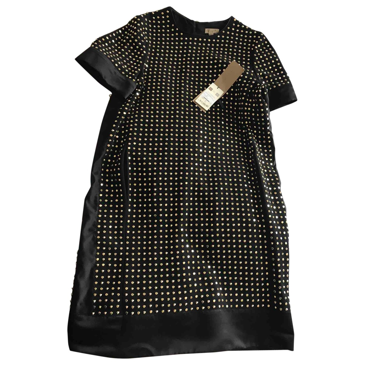 Burberry - Robe   pour femme en soie - noir