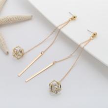 Crystal Pendant String Earrings 1pair